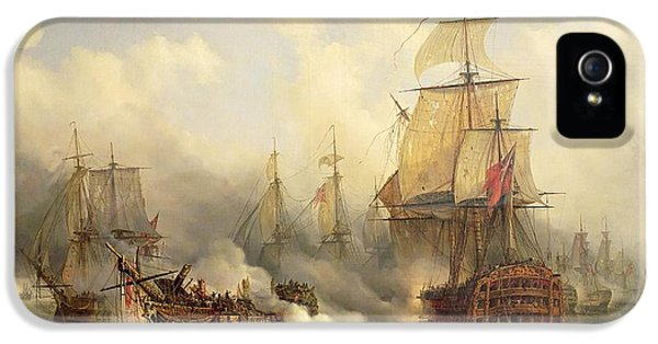 Boat iPhone 5s Case - Unknown Title Sea Battle by Auguste Etienne Francois Mayer
