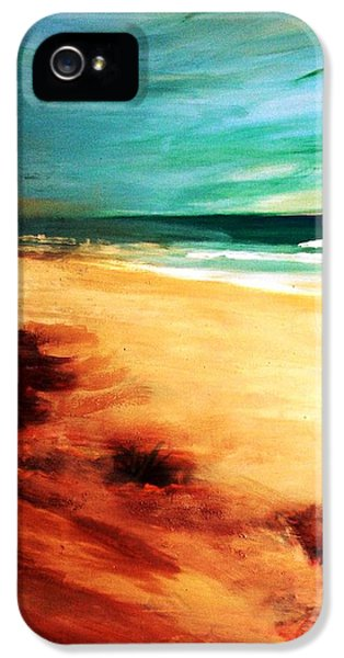 IPhone 5s Case featuring the painting The Remaining Pine by Winsome Gunning