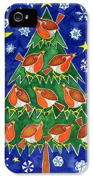 The Robins Chorus IPhone 5s Case by Cathy Baxter