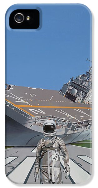 IPhone 5s Case featuring the painting The Runway by Scott Listfield