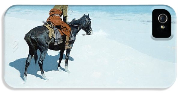 Horse iPhone 5s Case - The Scout Friends Or Foes by Frederic Remington