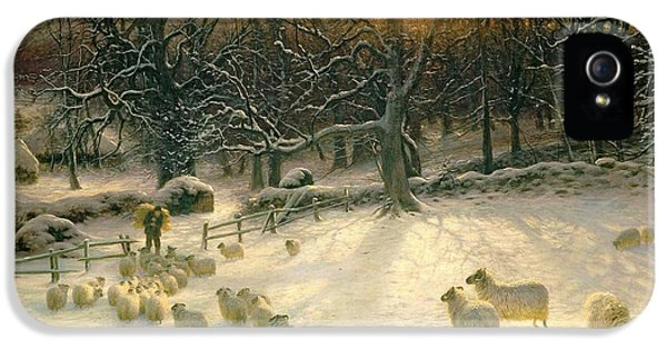 Sheep iPhone 5s Case - The Shortening Winters Day Is Near A Close by Joseph Farquharson