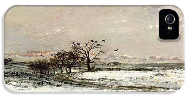 Rural Scenes iPhone 5s Case - The Snow by Charles Francois Daubigny