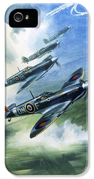Airplane iPhone 5s Case - The Supermarine Spitfire Mark Ix by Wilfred Hardy
