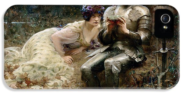 The Temptation Of Sir Percival IPhone 5s Case by Arthur Hacker