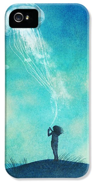 Beach iPhone 5s Case - The Thing About Jellyfish by Eric Fan