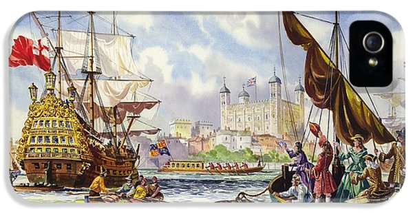The Tower Of London In The Late 17th Century  IPhone 5s Case by English School