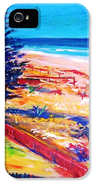 IPhone 5s Case featuring the painting The Winter Dunes by Winsome Gunning