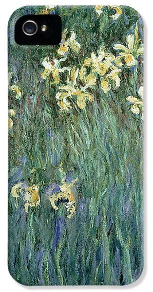 The Yellow Irises IPhone 5s Case by Claude Monet