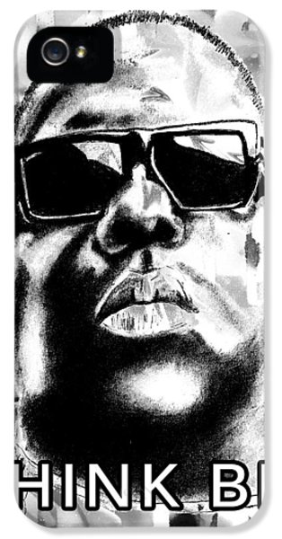 Biggie iPhone 5s Case - Think Big - Black And White Remix by Soma79