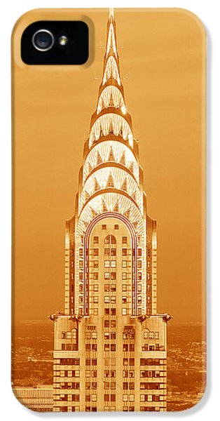 Chrysler Building At Sunset IPhone 5s Case by Panoramic Images