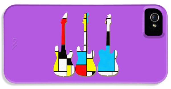 Three Guitars Modern Tee IPhone 5s Case by Edward Fielding