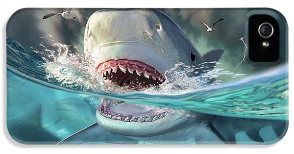 Seagull iPhone 5s Case - Tiger Sharks by Jerry LoFaro
