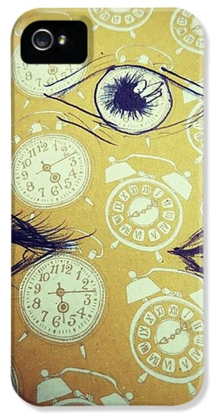 iPhone 5s Case - Time Waits For No Man, And Tomorrow Is by Eyeon Energetic