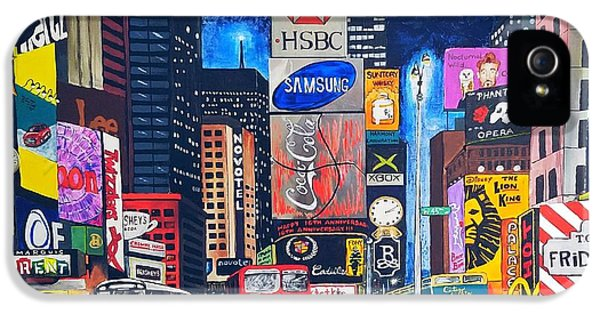 iPhone 5s Case - Times Square by Autumn Leaves Art