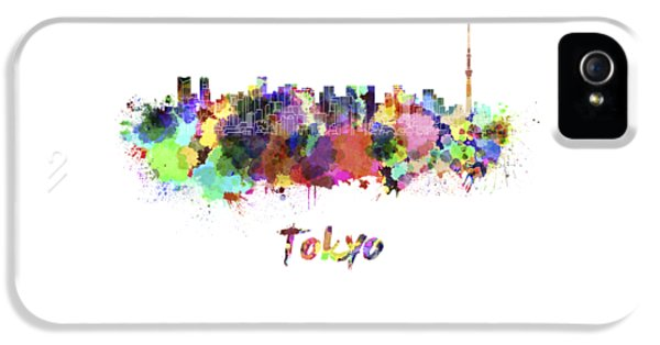 Tokyo V2 Skyline In Watercolor IPhone 5s Case by Pablo Romero
