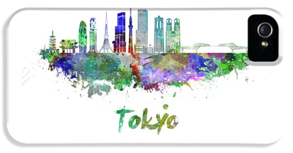 Tokyo V3 Skyline In Watercolor IPhone 5s Case by Pablo Romero