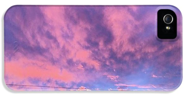 Sky iPhone 5s Case - Tonight's Sunset Over Tesco :) #view by John Edwards