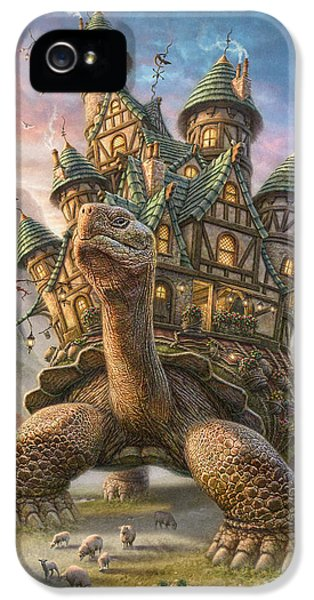 Garden iPhone 5s Case - Tortoise House by Phil Jaeger