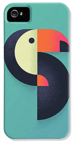 Toucan Geometric Airbrush Effect IPhone 5s Case