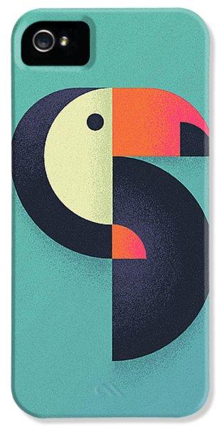 Toucan Geometric Airbrush Effect IPhone 5s Case by Ivan Krpan