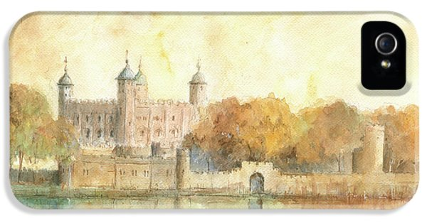 Tower Of London Watercolor IPhone 5s Case
