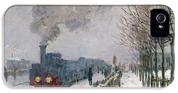 Train In The Snow Or The Locomotive IPhone 5s Case