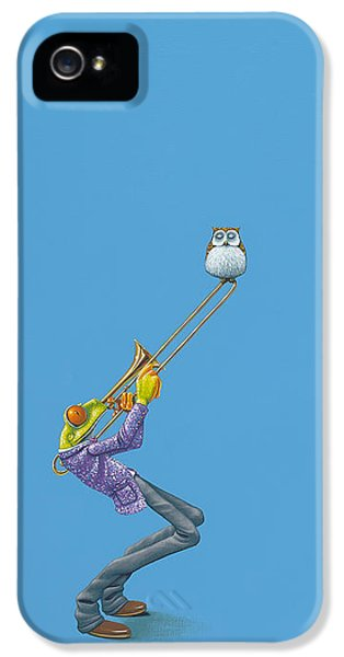 Amphibians iPhone 5s Case - Trombone by Jasper Oostland