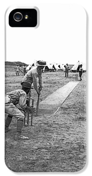 Troops Playing Cricket IPhone 5s Case by Underwood Archives
