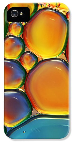 Macro iPhone 5s Case - Tropical Oil And Water II by Sharon Johnstone