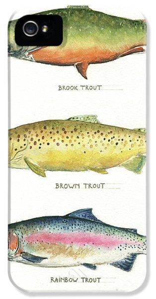 Trout Species IPhone 5s Case by Juan Bosco