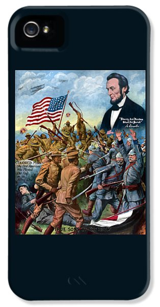 Abraham Lincoln iPhone 5s Case - True Sons Of Freedom -- Ww1 Propaganda by War Is Hell Store