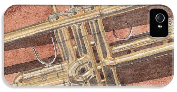Trumpet IPhone 5s Case by Ken Powers