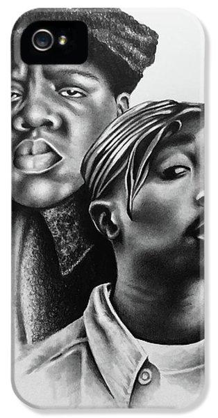 Biggie iPhone 5s Case - Tupac And Biggie by Marlene Kupau