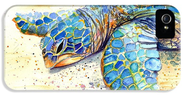 Reptiles iPhone 5s Case - Turtle At Poipu Beach 4 by Marionette Taboniar