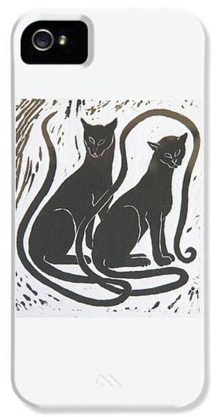 Two Black Felines IPhone 5s Case by Nareeta Martin