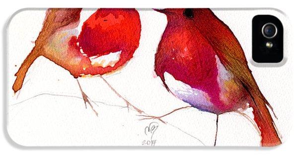Lovebird iPhone 5s Case - Two Little Birds by Nancy Moniz