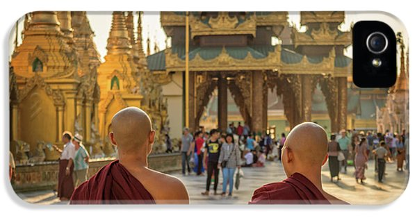Burmese Python iPhone 5s Case - Two Monks by Delphimages Photo Creations