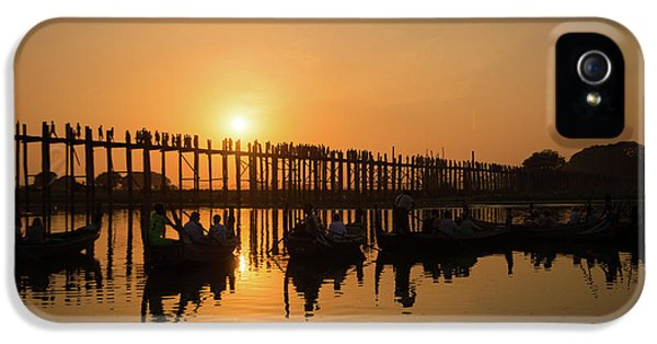 Burmese Python iPhone 5s Case - U Bein Bridge At Sunset by Delphimages Photo Creations