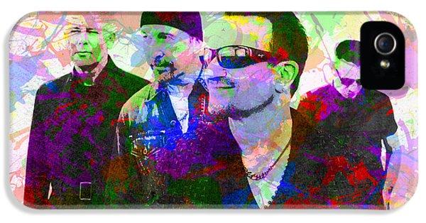 U2 Band Portrait Paint Splatters Pop Art IPhone 5s Case