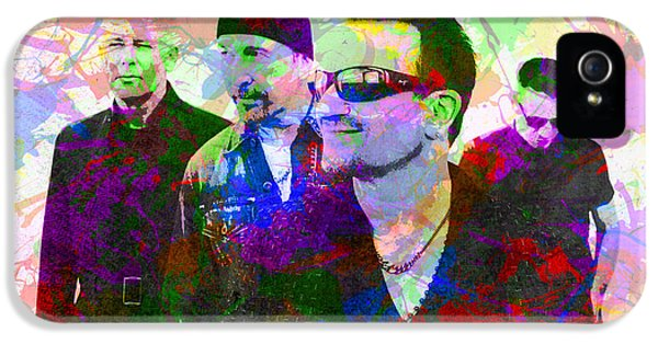 U2 Band Portrait Paint Splatters Pop Art IPhone 5s Case by Design Turnpike