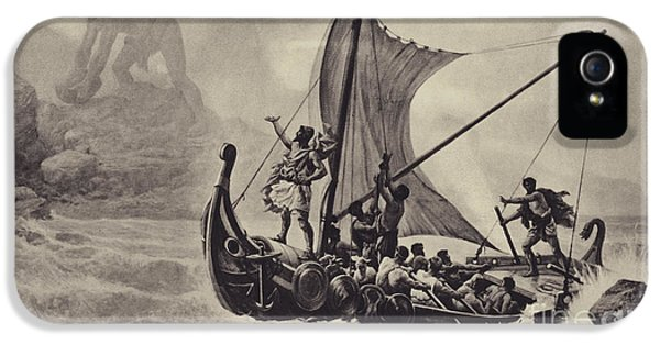 Cyclops iPhone 5s Case - Ulysses Deriding The Cyclops by Louis-Frederic Schutzenberger