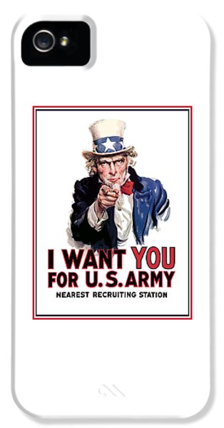 Landmarks iPhone 5s Case - Uncle Sam -- I Want You by War Is Hell Store
