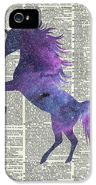 Unicorn In Space IPhone 5s Case by Jacob Kuch