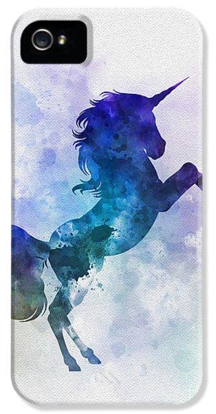 Unicorn IPhone 5s Case by Rebecca Jenkins