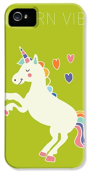 Unicorn Vibes IPhone 5s Case by Nicole Wilson