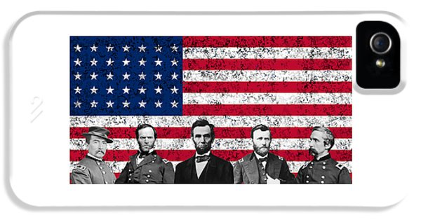 Abraham Lincoln iPhone 5s Case - Union Heroes And The American Flag by War Is Hell Store