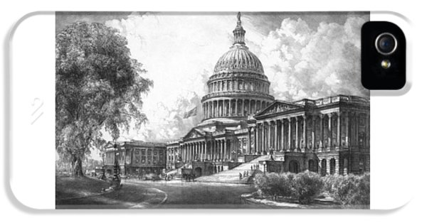 United States Capitol Building IPhone 5s Case by War Is Hell Store