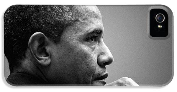 United States President Barack Obama Bw IPhone 5s Case by Celestial Images