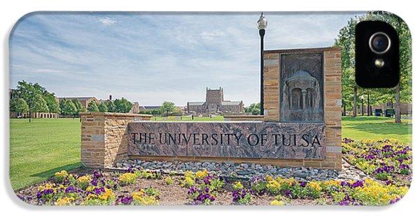 University Of Tulsa Mcfarlin Library IPhone 5s Case by Roberta Peake